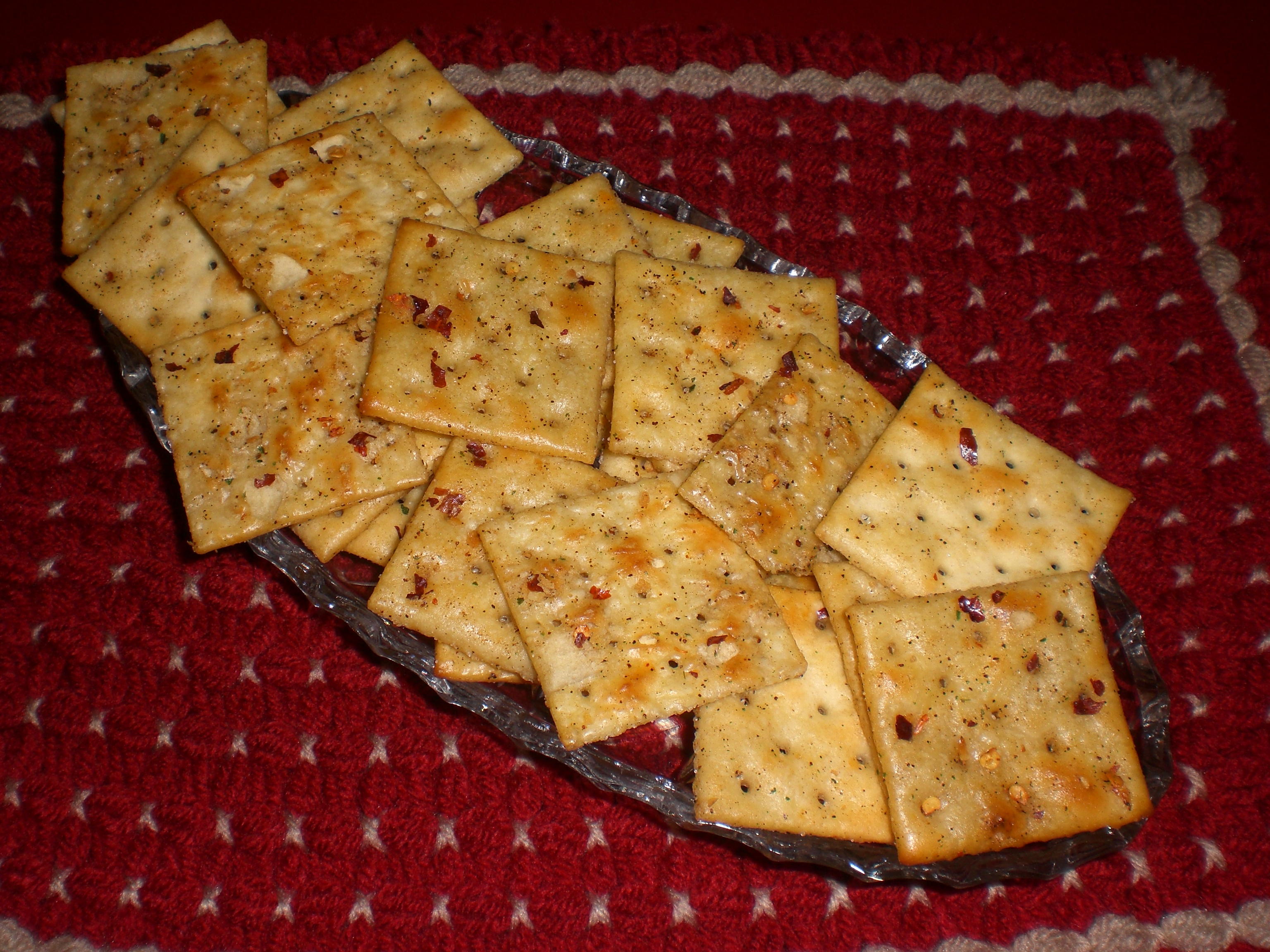 hot crackers with ranch dressing